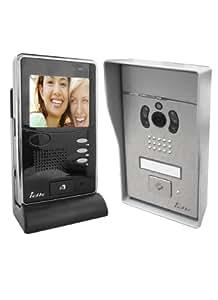 IDK DIO020427 PVNC-100 - Portero automático con monitor a color (inalámbrico, alcance de 150 m), color gris