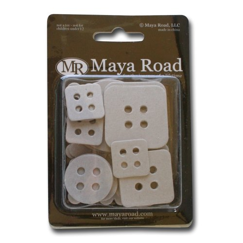 Maya Road Decorative Buttons Chipboard ()