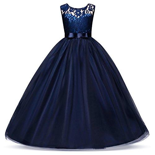 blue a line bridesmaid dresses - 1