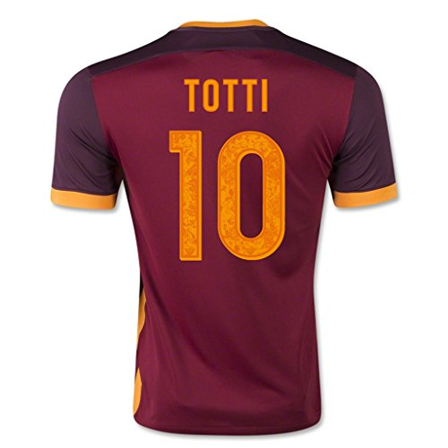 fan products of A.S. Roma #10 Totti 2015/16 Home Soccer Adult Football Jersey