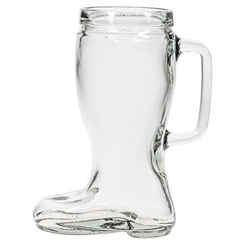 Shape Mug Beer (Home Essentials Brew Beer Mug 36 Oz Boot Shape, Clear)