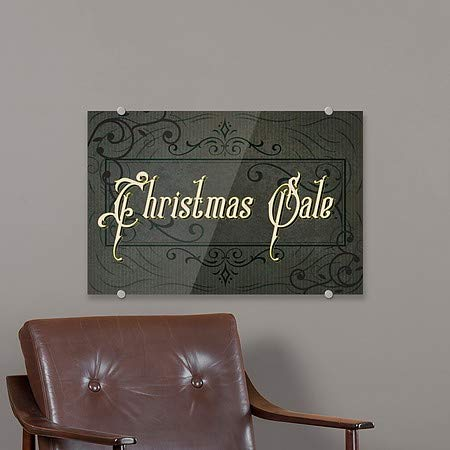 Victorian Frame Premium Brushed Aluminum Sign 5-Pack Christmas Sale CGSignLab 18x12