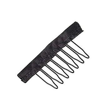 7 teeth Wig Combs Hair Clips Convenient for Wig Caps (Black, 20pcs) Xtrend Hair