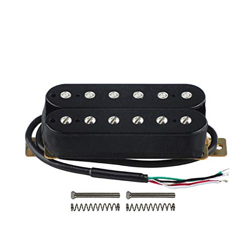 FLEOR Electric Guitar Double Coil Humbucker Pickups 52mm Ceramic Bridge Pickup - Black Black Humbucker Double Coil