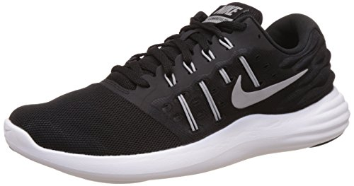 NIKE Men's Lunarstelos Black/Mtllc Silver/Anthrct/WHT Running Shoe 12 Men US