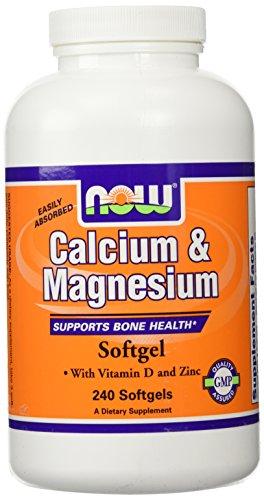 NOW Foods, Calcium & Magnesium + D - 240 Softgels (Calcium Vitamin D Magnesium)