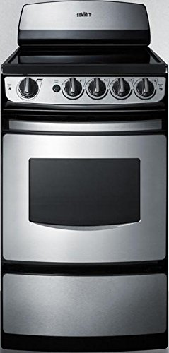 20 Inch Electric Range - Summit FBA_REX207SS White Pearl 20