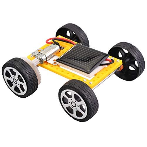 Kiorc Solar Car DIY Assemble Toy Set Solar Powered Car Kit Educational Science for Kid