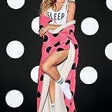 Victoria's Secret PINK Soft Sherpa Blanket Pink Polka Dot 60