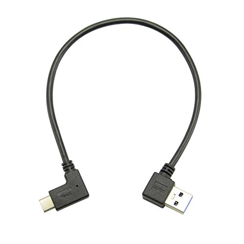 Goliton? Left 90 Degree Elbow USB 3.0 Male to USB 3.1 Type C elbow Data Line Cable
