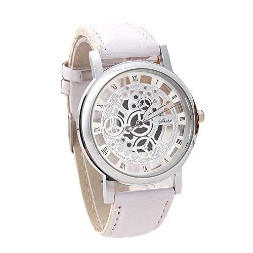 Respctful✿Mens Quartz Watches Business Sport Design Leather Band Waterproof Wrist Watch Chronograph Wrist Watch