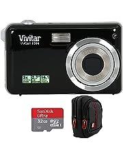 "$35 » Vivitar Vivicam F314 14.1 MP 2.7"" Screen 3X Optical Zoom Digital Camera - Black Bundle with Deco Gear Point and Shoot Field Bag Camera Case + Sandisk Ultra microSDHC 32GB UHS Class 10 Memory Card"