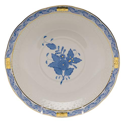 Herend Chinese Bouquet Blue Porcelain Cream Soup Saucer