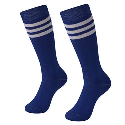SUTTOS Men's Women's Basic Referee Long Socks Over Knee High Sock Baseball Hockey Football various on Color Stripes 2-Pair