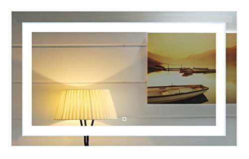 40X24 Inch Wall Mounted Led Lighted Bathroom Mirror with Touch Switch(GS099-4024R) (40x24 inch RE)