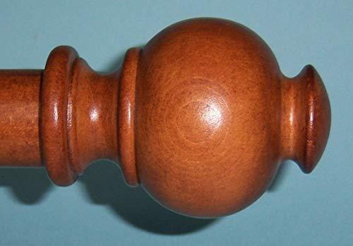 Oak Finials - Wood Button Ball Finials for 1 3/8