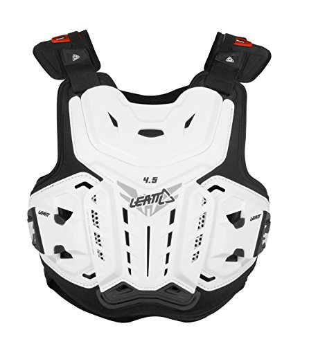 Atv Chest Protector (Leatt 4.5 Chest Protector (White, Adult))