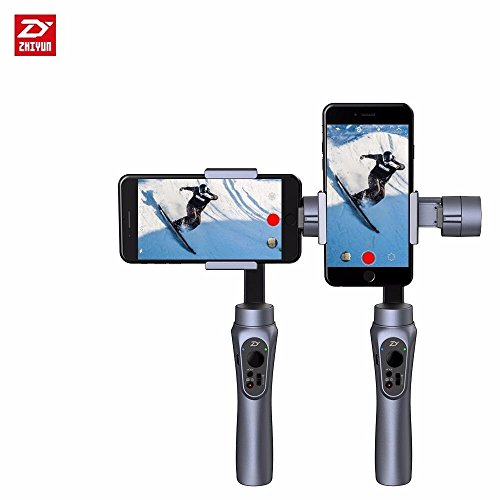 Zhiyun Smooth-Q 3-Axis Handheld Gimbal Stabilizer for Smartphone Like iPhone X 8 7 Plus 6 Plus Samsung Galaxy S8+ S8 S7 S6 S5 Wireless Control Vertical Shooting Panorama Mode (Zhiyun Smooth Q Black)