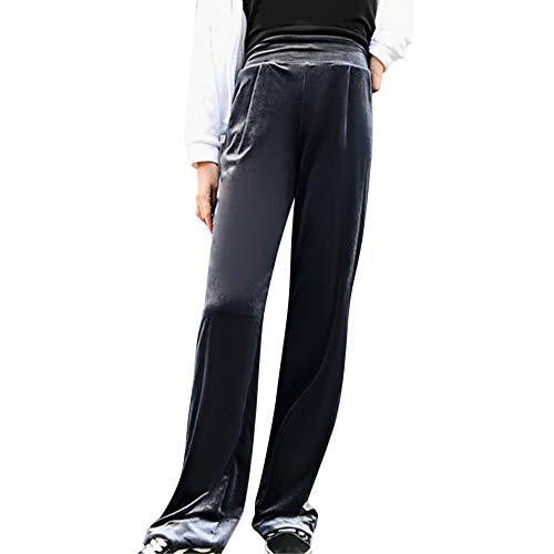 BETTERUU Pants Women Winter Loose Casual Velvet Pants Elastic Waist Sport Pants Length (Blue, - Chino Cherokee Boys