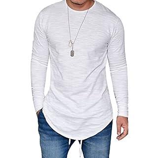 Men's long white t-shirt