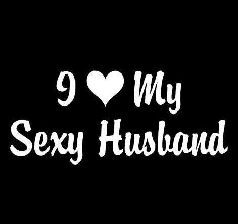 Amazoncom I Love My Sexy Husband Heart Decal Sticker Die Cut