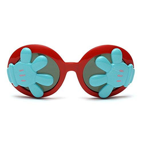 LOMOL Children's Fashion Unique Design Cute UV Protection Round - 80 S Ski Sunglasses