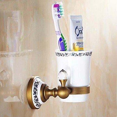 kai latón envejecido pared único vaso para cepillos de dientes: Amazon.es: Hogar