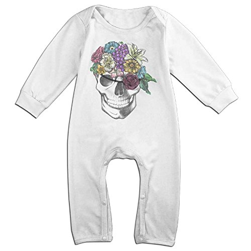 Floral-pirate Long Sleeve Bodysuit Baby Onesie Baby Climbing Clothes For 0-24 Months White 24 - Usps To First Class International Australia Time