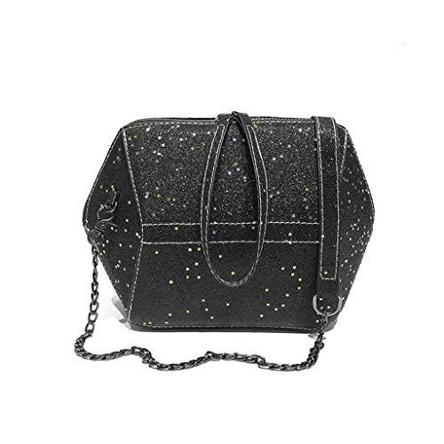 RXF Casual One-Shoulder Messenger Bag Casual Shopping Parcel (Color : Black, Size : S)