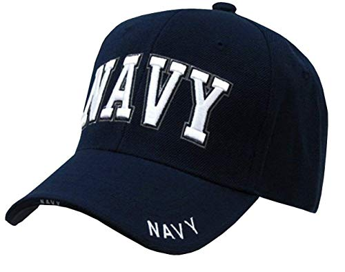 Rapid Dominance US Navy Text Embroidered High Crown Military Baseball Cap Hat ()