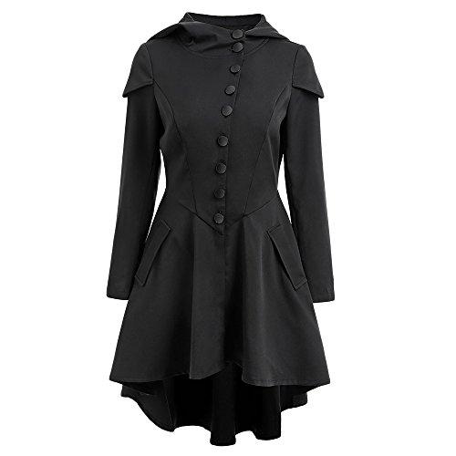 a3b949a8a7196 delicate SKM Women s Plus Size Coats Dress Long Sleeve Layered Lace Up Back  High Low Hem