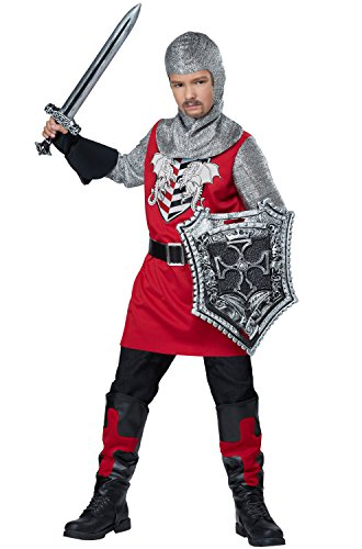 California Costumes Brave Knight Costume, Red/Black,