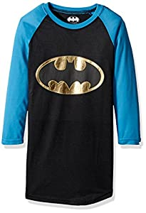 Intimo Girls' Batman/Batgirl Raglan Nightgown at Gotham City Store