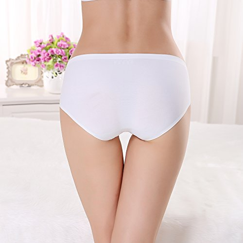 FZmix Top Quality Summer Style Women Sexy Panties Thin Seamless Briefs Ice Silk Underwear Ladies Intimates Calcinha Plus Size White
