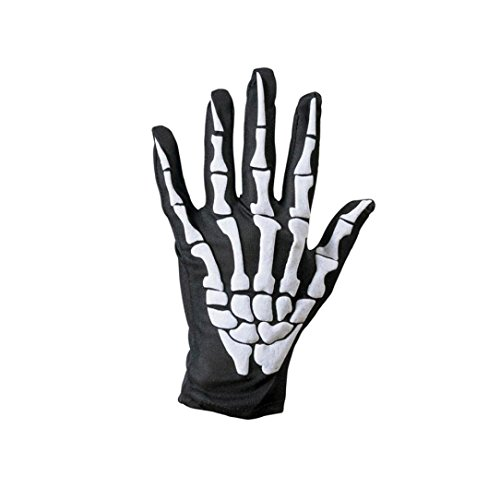 Devil Costume Contacts (HOT ! Ninasill Exclusive Halloween Skull Bone Skeleton Goth Racing Full Finger Gloves (White))