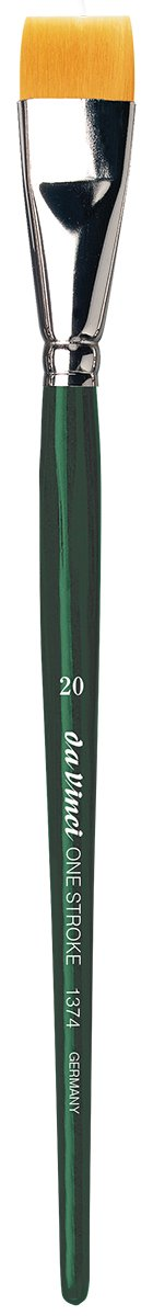 da Vinci Nova Series 1374 One Stroke Brush, One Stroke Short Flat Synthetic, Size 20 (1374-20) by da Vinci Brushes