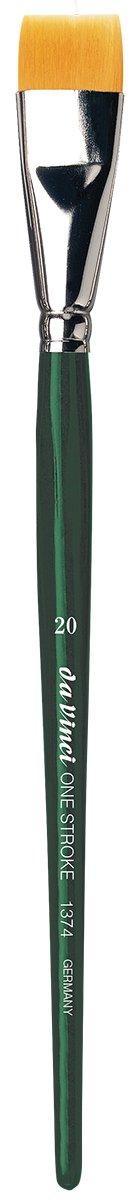 da Vinci Nova Series 1374 One Stroke Brush, One Stroke Short Flat Synthetic, Size 20 (1374-20)