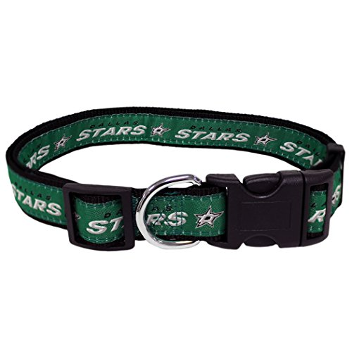 Pets First NHL Dallas Stars Collar for Dogs & Cats, Large. - Adjustable, Cute & Stylish! The Ultimate Hockey Fan Collar! ()