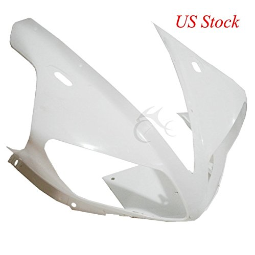 TCMT Unpainted ABS Upper Cowl Front Fairing Nose For YAMAHA YZF 1000 R1 YZFR1 02 03 - Upper Front Nose