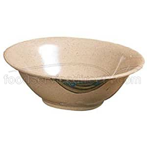 Thunder Group 12-Pack WEI Collection Deep Bowl, 8-Inch Diameter, Brown