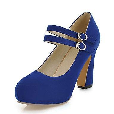Parte EU41 CN42 amp;Amp; De Azul 5 Traje Noche Chunky Negro Club Primavera Amarillo US9 Beige Polipiel Mujer Talón Zormey 10 Tacones UK7 5 Zapatos Verano 8 Hebilla nFABw0q8