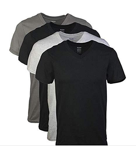 Gildan Men's V-Neck T-Shirts Multipack, Assorted 2XL (5 Pack), 2X-Large