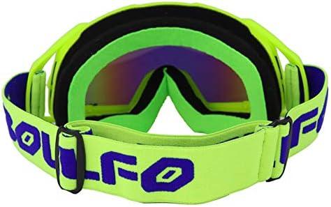 Tmand Gafas Gafas De Protecci/óN De Motocross Gafas Gafas De Protecci/óN Cascos De Motocicleta Gafas Deportivas De Esqu/í Bicicleta De Tierra Todoterreno MX Casco Gafas De Moto Azul