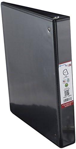 Removable Slant D Ring 1-Inch Capacity Saunders US-Works View Binder BPA Free Vinyl 08078 Black