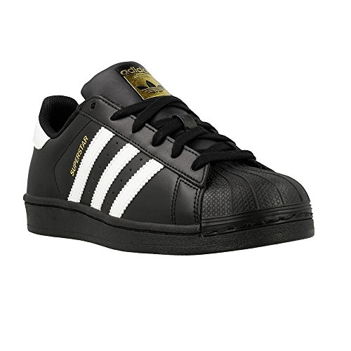 adidas Superstar Foundation Kids Trainers Black White - 5 UK by adidas