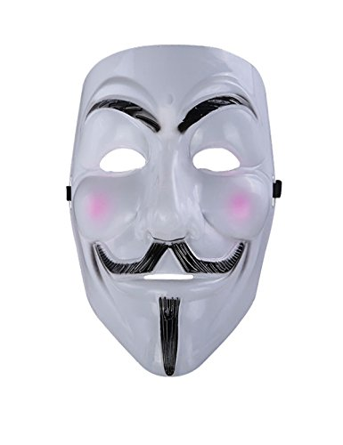 leadershipWhite Pink Cheek Guy Fawkes Anonymous V for Vendetta Costume Mask