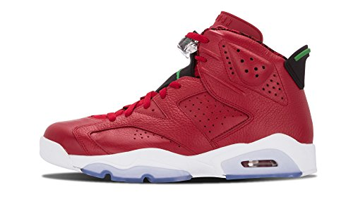 Jordan Nike Mens Air 6 Retro Spizike History of Spizike Red/Classic Varsity Red/Classic Spizike Green-Wht Leather Basketball Shoes... B00MJCV37G Shoes 7eee00