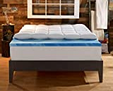 Sleep Innovations 4-Inch Dual Layer Mattress Topper. 10-year limited warranty. Made in the