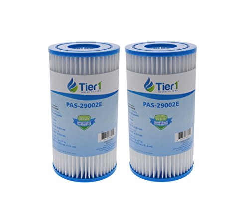 Tier1 29002E Intex 29002E Type A Easy Set Pools Comparable Replacement Filter Cartridge 2 Pack