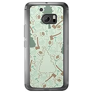 Loud Universe HTC M10 Wild 1 Printed Transparent Edge Case - Multi Color